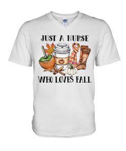 Just a nurse who loves fall V-neck