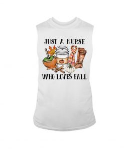 Just a nurse who loves fall tank top