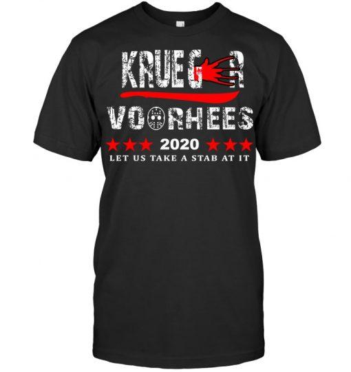 Krueger Voorhees 2020 Let us take a stab at it T-shirt