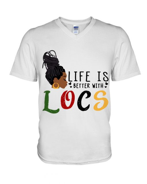 Life is better with LOCS V-neck