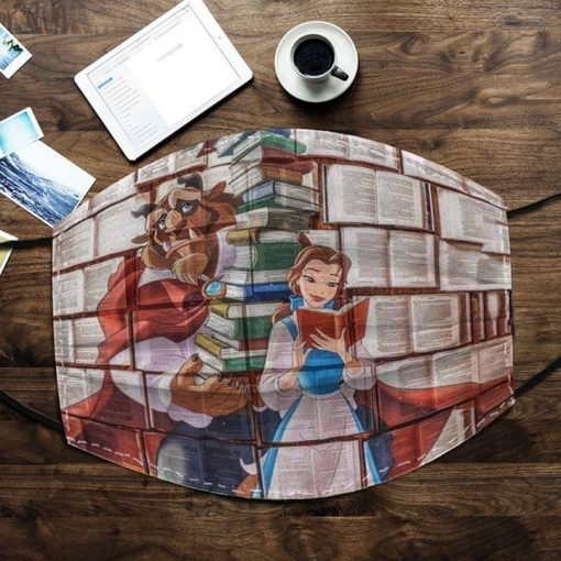 Love Books Beauty and The Beast face mask