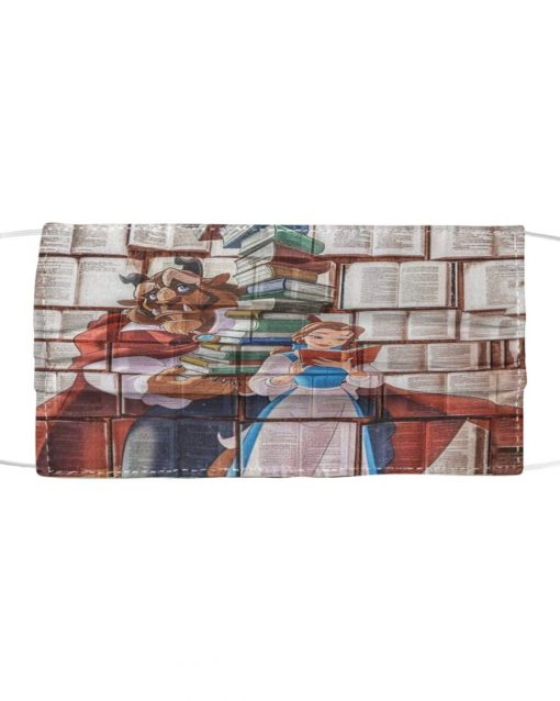Love Books Beauty and The Beast face mask1