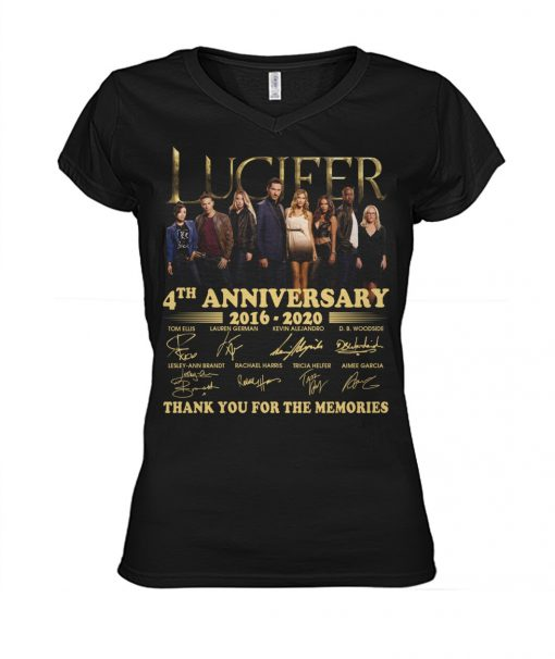 Lucifer 4th anniversary 2016-2020 V-neck