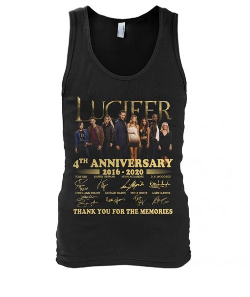 Lucifer 4th anniversary 2016-2020 tank top