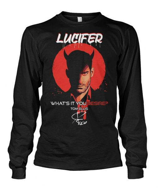 Lucifer What's it you desire Tom Ellis Long sleeve