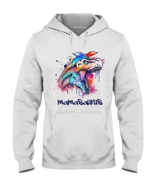 Mamasasurus Watercolour Dinosaur hooddie