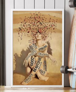 Music And Wine I am kind strong smart good beautiful bold important talented unique poster 2