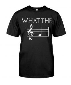 Musician What the fuck Music sheet T-shirt