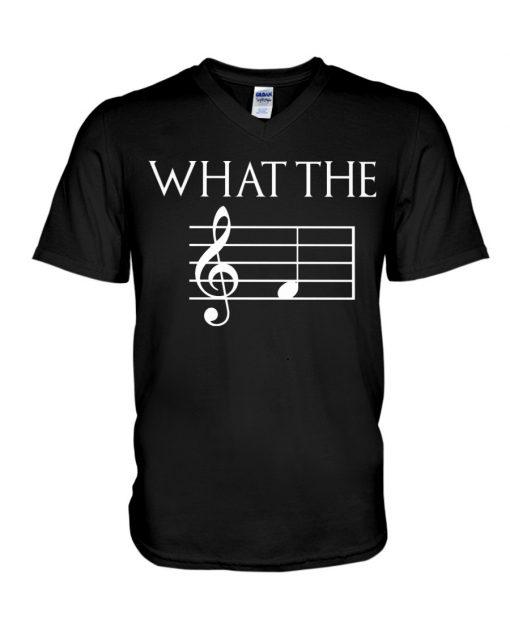 Musician What the fuck Music sheet V-neck