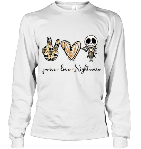 Peace Love Nightmare Jack Skellington hoodie