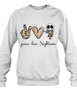 Peace Love Nightmare Jack Skellington sweatshirt