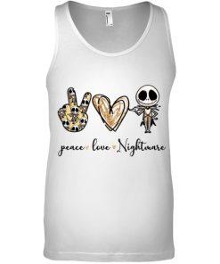 Peace Love Nightmare Jack Skellington tank top
