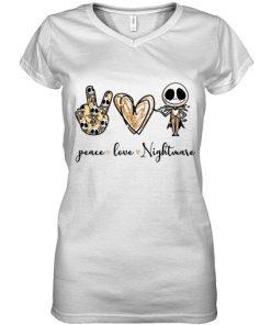 Peace Love Nightmare Jack Skellington v-neck