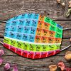 Periodic table Science face mask