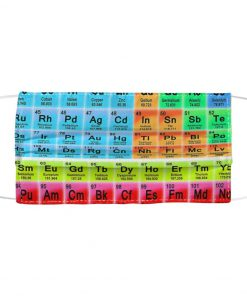Periodic table Science face mask1