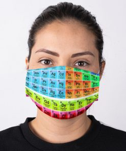 Periodic table Science face mask2