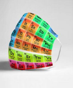 Periodic table Science face mask3