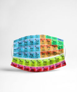 Periodic table Science face mask4