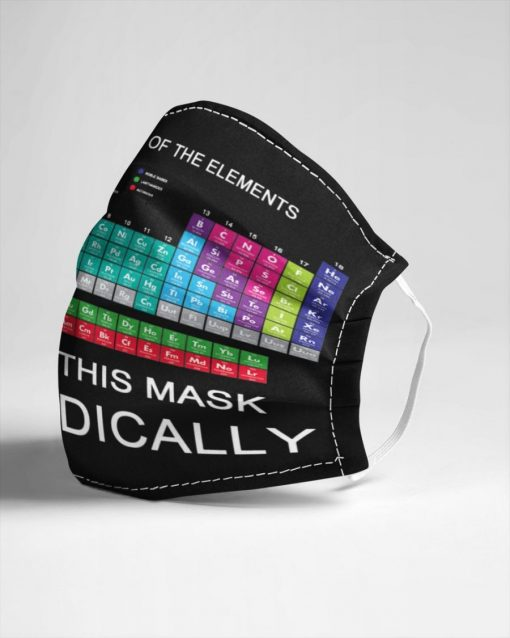 Periodic table of elements I wear this mask periodically face mask3