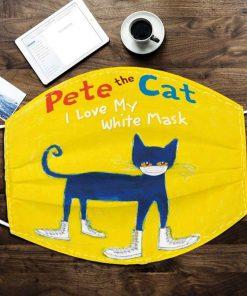 Pete the cat I love white mask 0