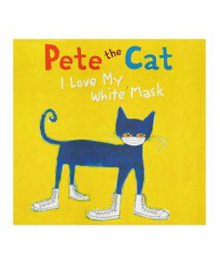 Pete the cat I love white mask 2