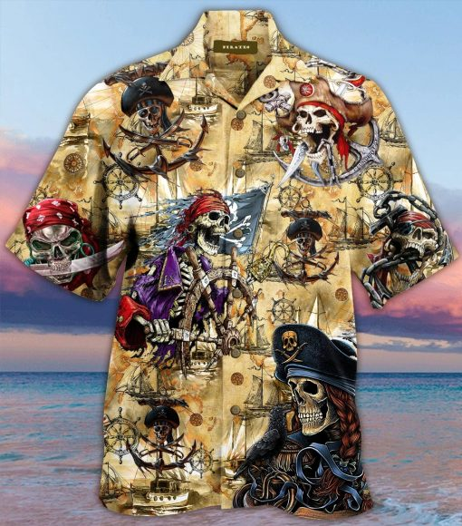 Pirate Skull Hawaiian Shirt