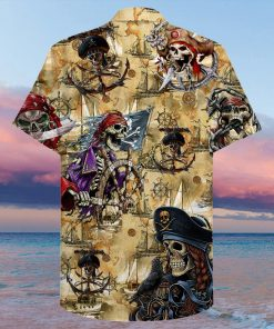 Pirate Skull Hawaiian Shirt1