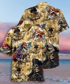Pirate Skull Hawaiian Shirt2