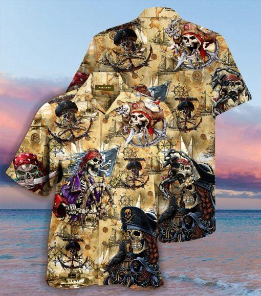 Pirate Skull Hawaiian Shirt2