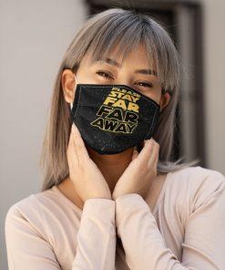 Please stay far away Star Wars face mask 0