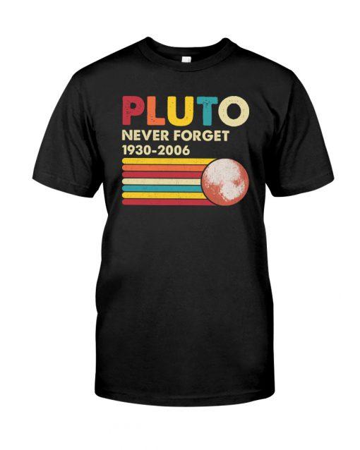 Pluto Never Forget 1930-2006 shirt