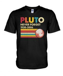 Pluto Never Forget 1930-2006 v-neck