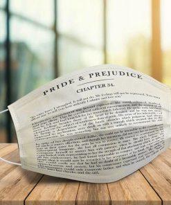 Pride and Prejudice chapter 34 face mask 0