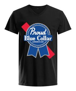 Proud Blue Collar American v-neck