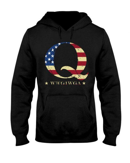 QAnon Flag WWG1WGA Q Hoodie