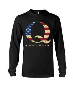 QAnon Flag WWG1WGA Q Long sleeve