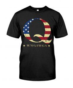 QAnon Flag WWG1WGA Q T-shirt