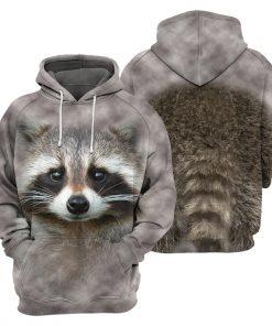 Raccoon - 3D All Over Printed Shirt Hoodie4