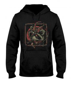 Racoon Gothic satan hoodie