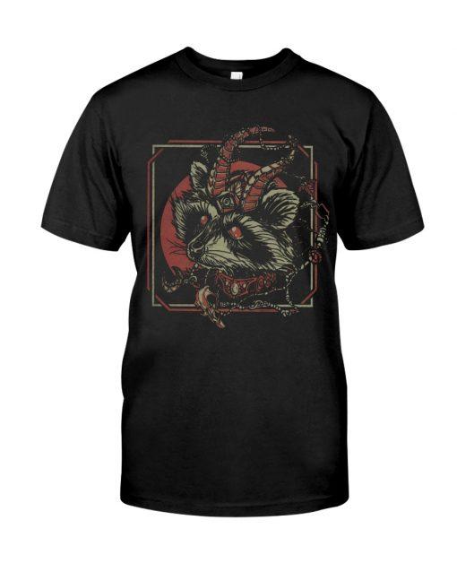 Racoon Gothic satan shirt