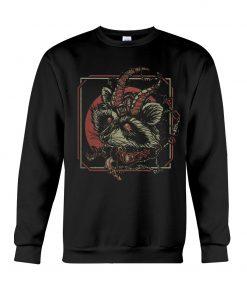 Racoon Gothic satan sweatshirt