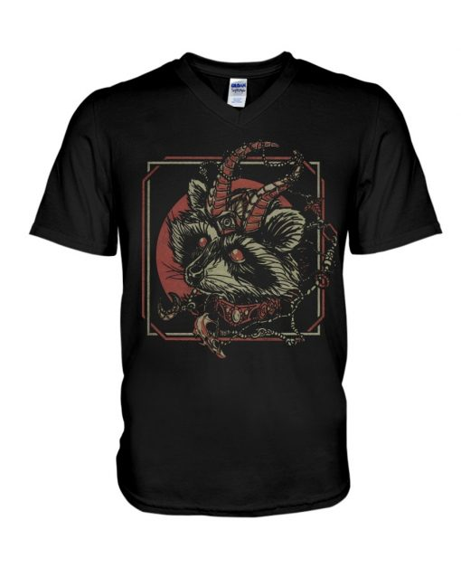 Racoon Gothic satan v-neck