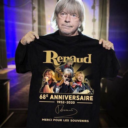 Renaud 68e anniversaire 1952-2020 shirt