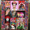 Ruth Bader Ginsburg RBG Flowers fleece blanket 0