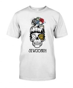 Skull Lady Sewing Sewciopath shirt