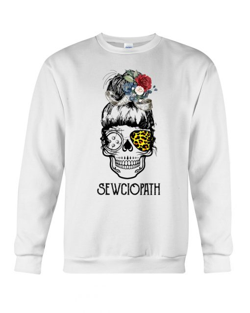 Skull Lady Sewing Sewciopath sweatshirt