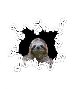 Sloth Crack Sticker