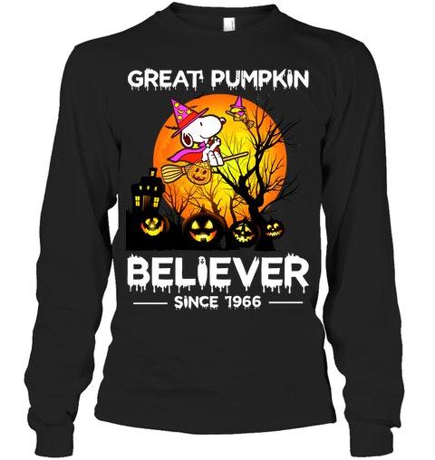 Snoopy Great pumpkin believer since 1966 long sleeved