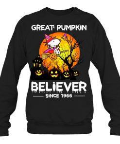 Snoopy Great pumpkin believer since 1966 sweatshirt