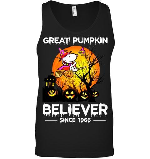 Snoopy Great pumpkin believer since 1966 tank top